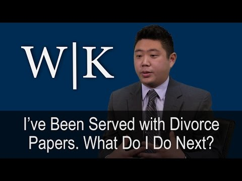 I've Been Served with Divorce Papers. What Do I Do Next?