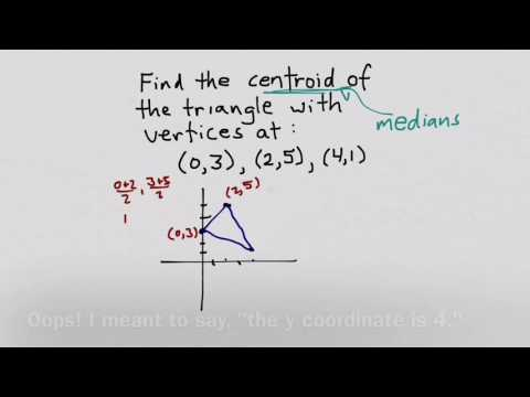 Finding Centroid Coordinates