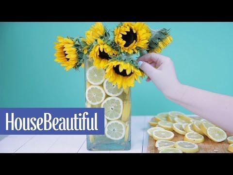 How to Make a Lemon Vase | House Beautiful