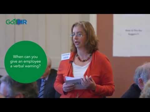 Verbal Warnings: When can you give an employee a verbal warning? : Golf HR - UK
