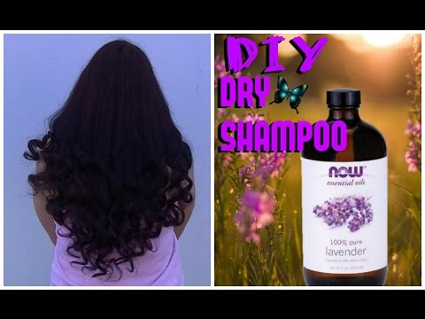 DIY DRY LAVENDER SHAMPOO for HAIR GROWTH & VOLUME !