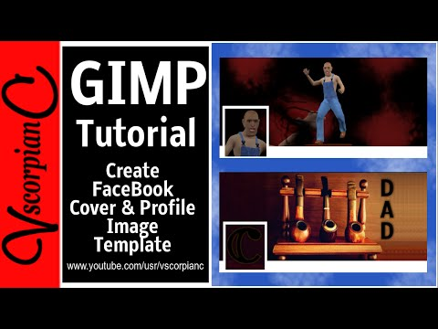GIMP Tutorial - How to make fb Cover & Profile Photo by VscorpianC