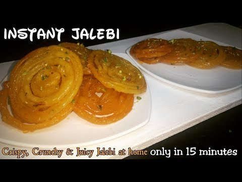 Instant Jalebi ONLY IN 15 MINUTES |CRISPY CRUNCHY JUICY JALEBI RECIPE |Easy & Quick Jalebi Recipe |