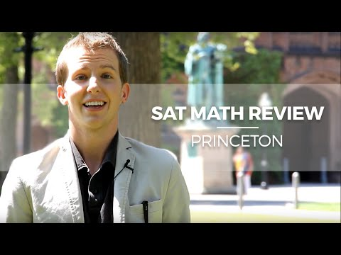 SAT Math Review at Princeton University: Admissions