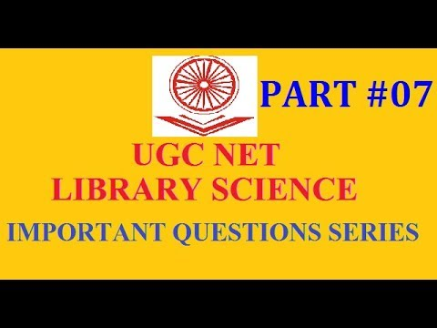 imp Questions series 7 I UGC NET LIBRARY SCIENCE I RSMSSB LIBRARIAN