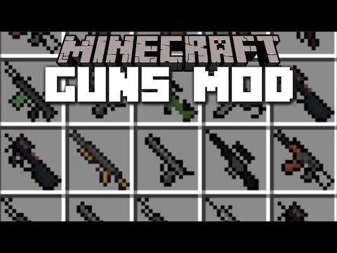 Minecraft GUNS MOD / ZOMBIE APOCALYPSE INVASION WEAPONS!! Minecraft