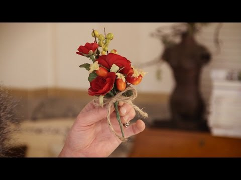 Roses and Berries Buttonhole Floristry Tutorial