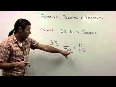 Convert Between Fractions, Decimals, and Percents