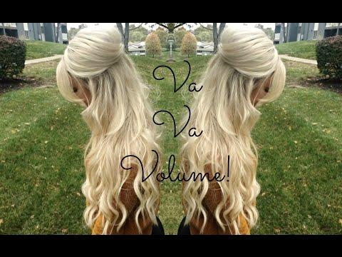 Voluminous Half Up Half Down Hairstyle! | TheBlondeBeautyy