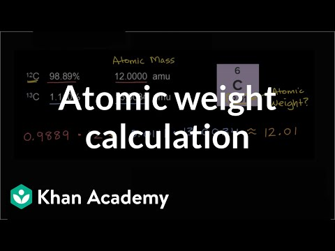 Calculating atomic weight | Chemistry | Khan Academy