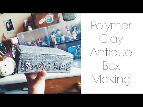 Polymer Clay Antique Box Making