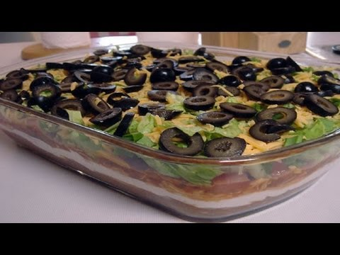 Seven Layer Dip video recipe- Mexican Cuisine Recipe by Bhavna