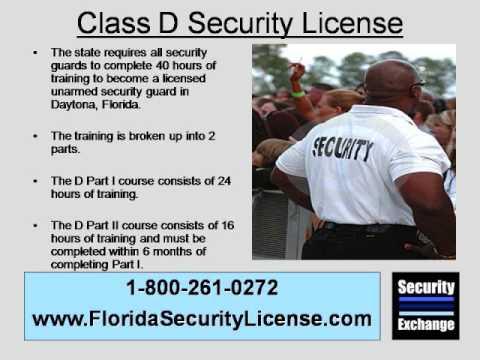 Florida Class D Security License Daytona