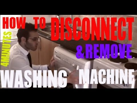 DIY TIPS HOW TO DISCONNECT AND REMOVE A WASHING MACHINE COWBOYDIY.COM