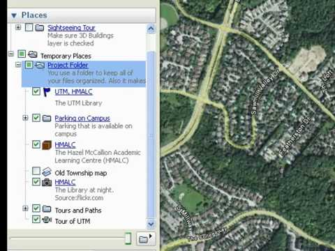 Saving Projects in Google Earth
