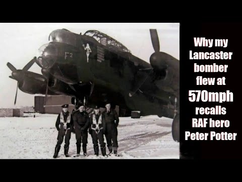 CRHnews - RAF Lancaster dived at 570mph  recalls air gunner
