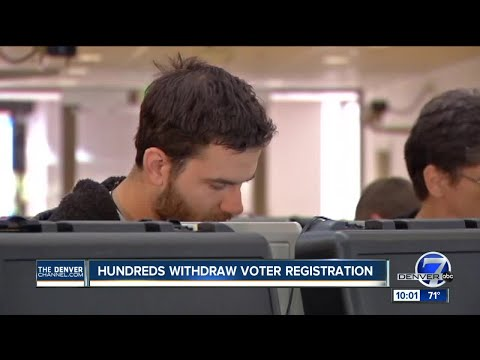 Hundreds withdraw Colorado voter registrations in response to compliance with commission request