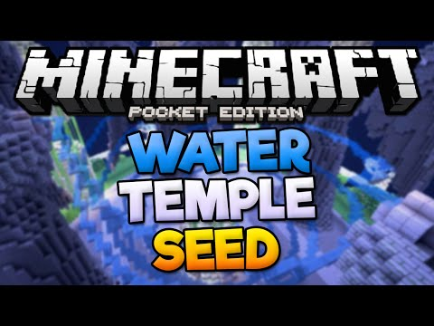 WATER TEMPLE SEED! - Rare Temple Seed With Diamonds - Minecraft PE (Pocket Edition)
