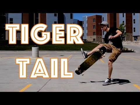 How To Longboard: Tiger Tail Freestyle Dance Trick Tip (EASY)