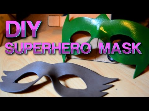 How To Make A Foam Superhero Mask - DIY