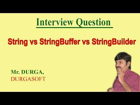 String vs StringBuffer vs StringBuilder