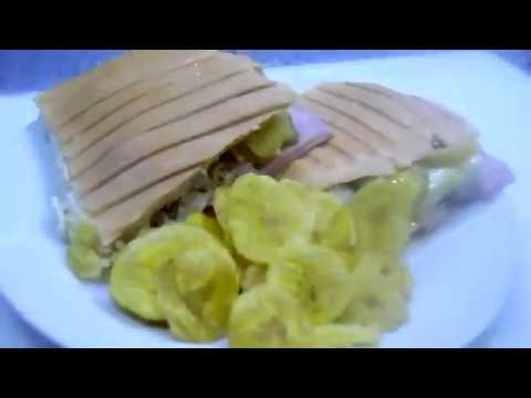 cuban sandwich panini style  { over stuffed  }