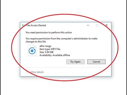 Fix File Access Denied-You need permission to perform this action in windows 10/8/7