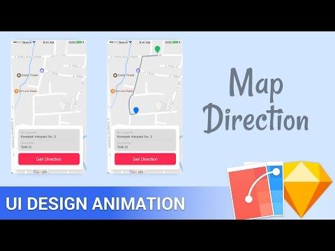 Sketch App Flinto Animation Tutorial Maps Direction