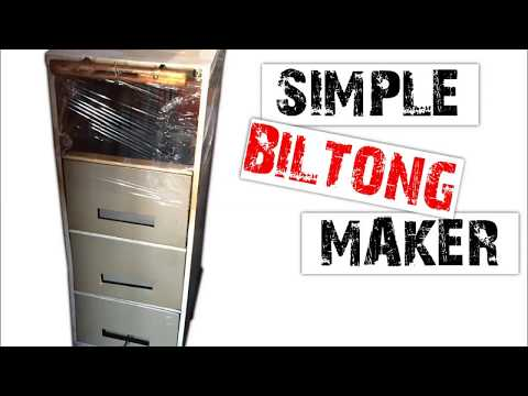 Convert your old Filing Cabinet into a Simple Biltong Maker