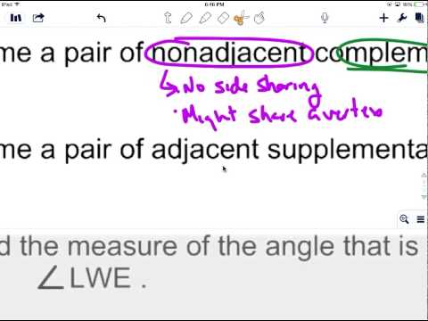 Complementary & Supplementary Angles