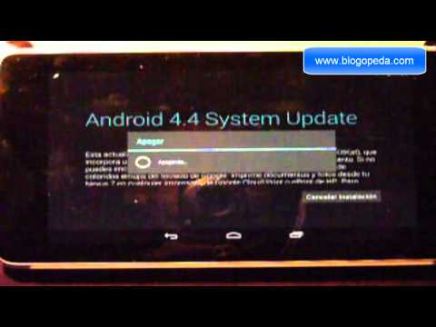 Error al actualizar una Nexus 7 modelo 3g del 2012 rooteada a Android 4.4