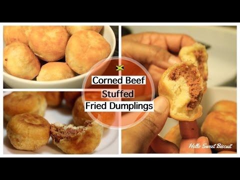 Jamaican Corned Beef Stuffed Fried Dumplings- Part 2 | Hello Sweet Biscuit