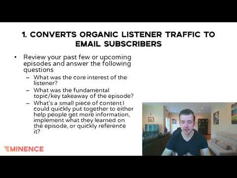 How to convert organic podcast listeners to email subscribers (Podcast Website Checklist Step 1 )
