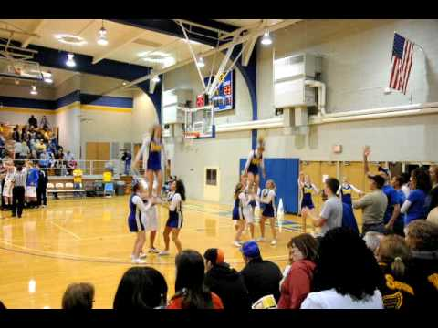 Easy and showy cheer stunts