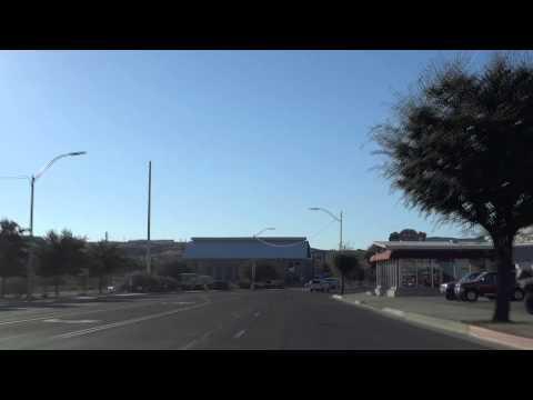 Driving on Route 66 through Kingman, Arizona - 12 October 2013