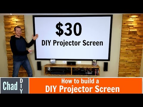 How to build a $30 Projector Screen