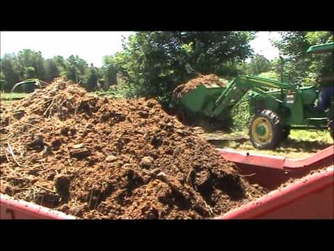 Spreading Manure with New Holland 202 Manure Spreader