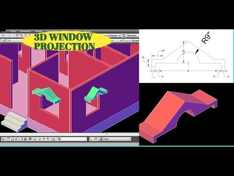3D WINDOW PROJECTION Type #2 | CAD CAREER | AutoCAD