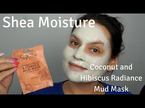 Shea Moisture Coconut and Hibiscus Radiance Mud Mask Review