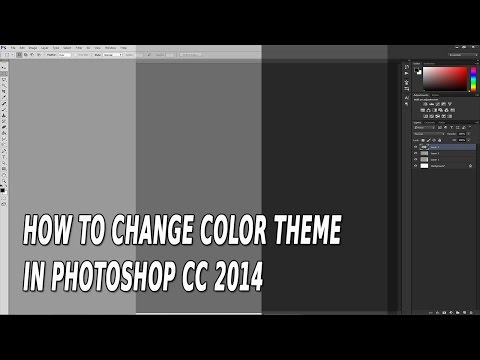 How to change color theme in Adobe Photoshop CC 2014