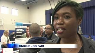 Video: Job fair goes ahead despite closure of employment centre