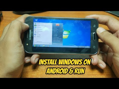 How to install windows 7 on android