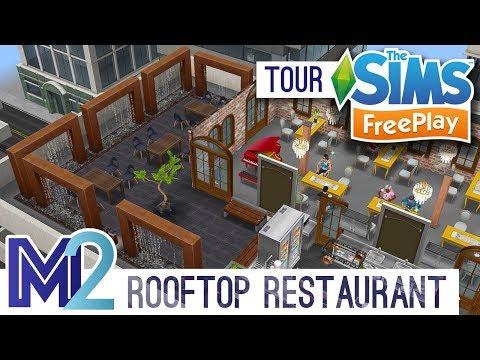 Sims FreePlay - Rooftop Restaurant (Original Design)