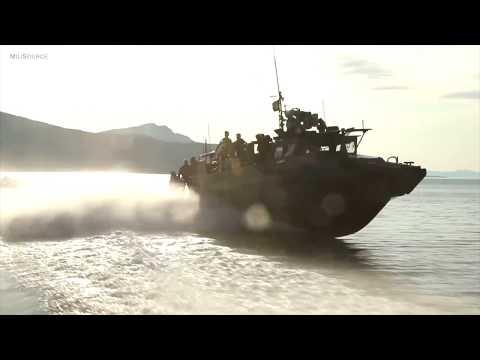 US Marines & Norwegian Coastal Ranger Commandos Conduct CB90 Fast Assault Craft Training