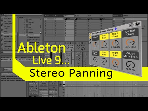 Stereo Panning in Ableton Live 9. Free Stereo Rack!