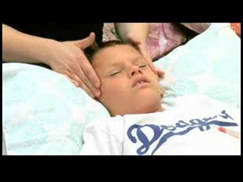 Massage to Treat Child With Sinus Congestion : Massaging Nose of Child to Treat Sinus Congestion