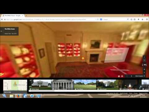 Inside the white house on google maps