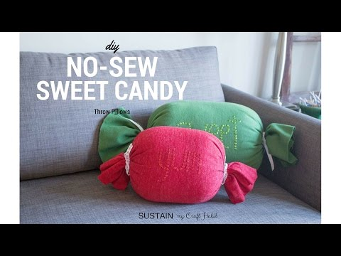 Making a Sweet Candy Throw Pillow Cover