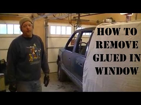 How to Remove Glued in Window (Demo Derby Tips)