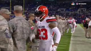 Joe Haden Made Sure To Thank Every Single Service Member Before Last Night